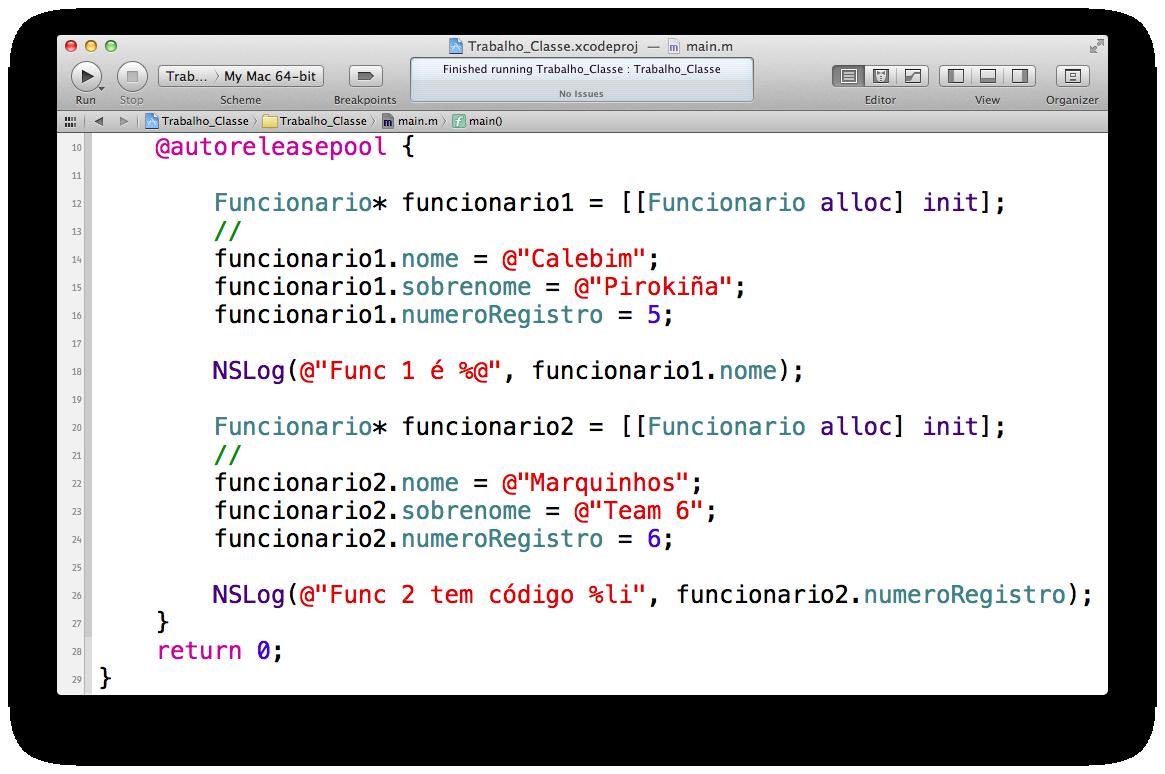 Declarando outra classe no Xcode