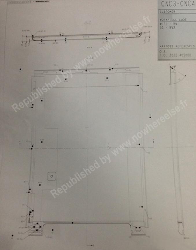 Desenho esquemático - iPad 5G
