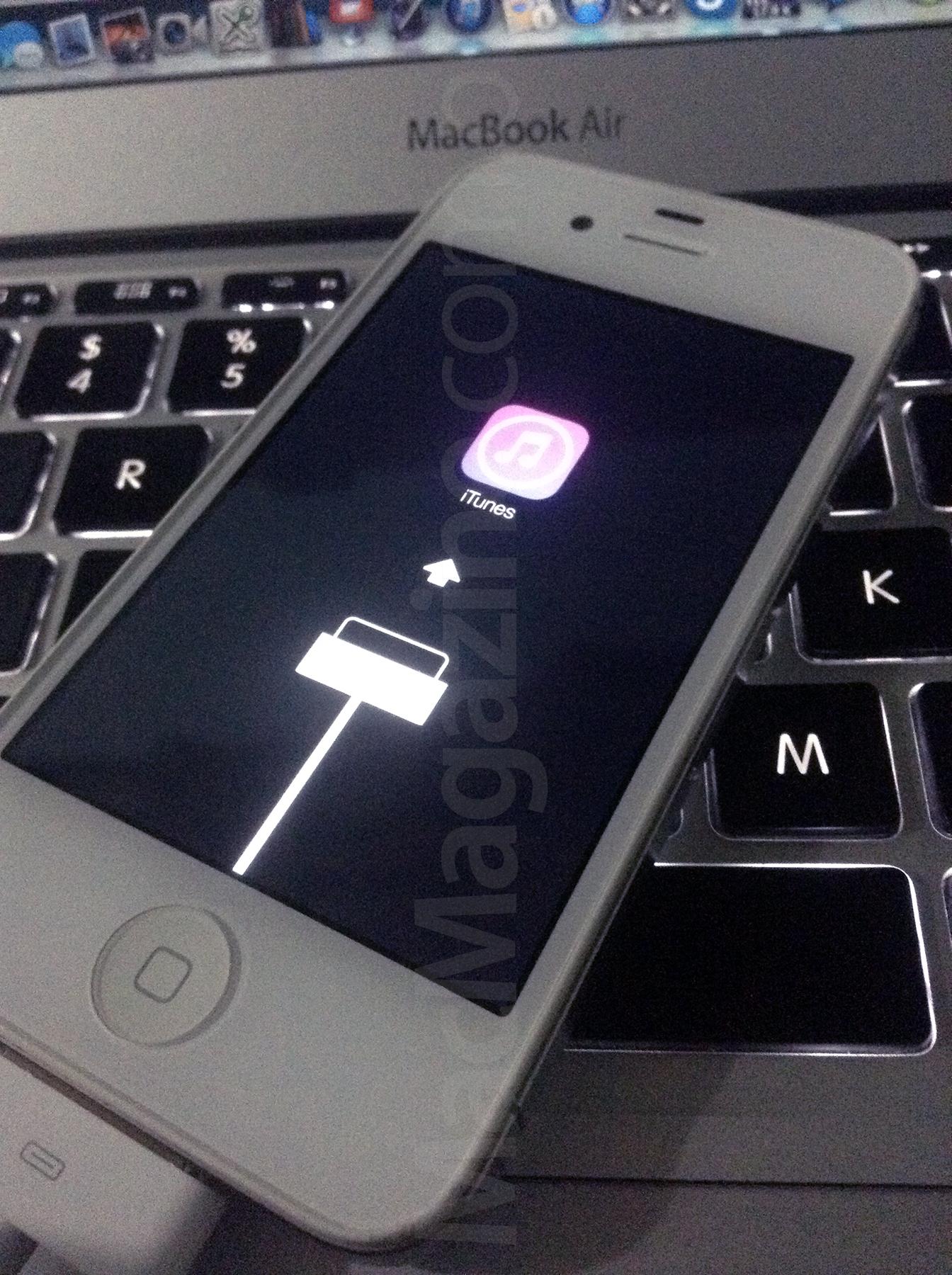 iOS 7 em modo de restauração