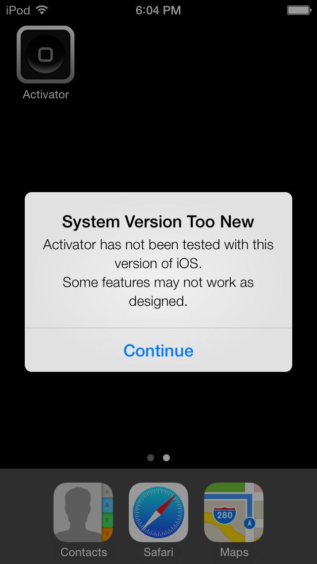 iPod touch jailbroken com o iOS 7