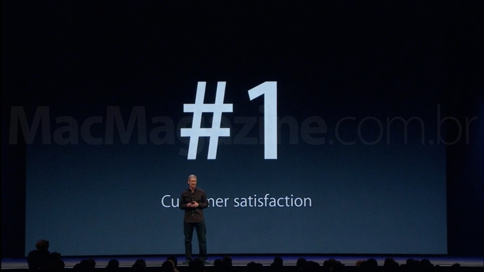 Tim Cook falando sobre satisfação do cliente - WWDC 2013