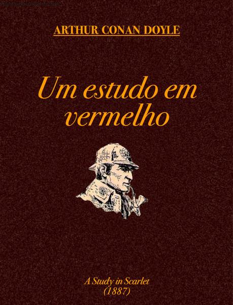 """Capa do livro """"Um estudo em vermelho"""""""