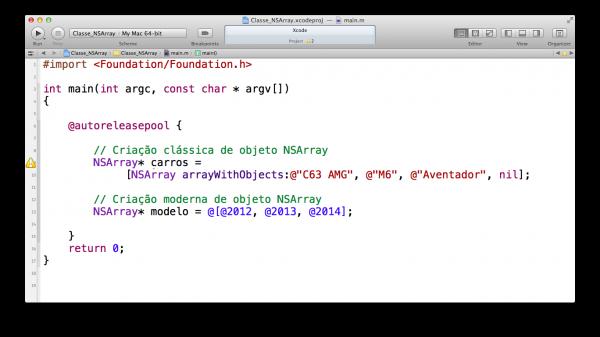 programando em Objective-C — classe NSArray