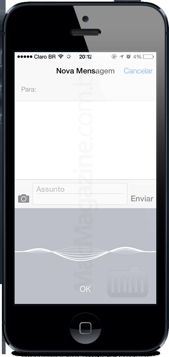 Ditado no iOS 7