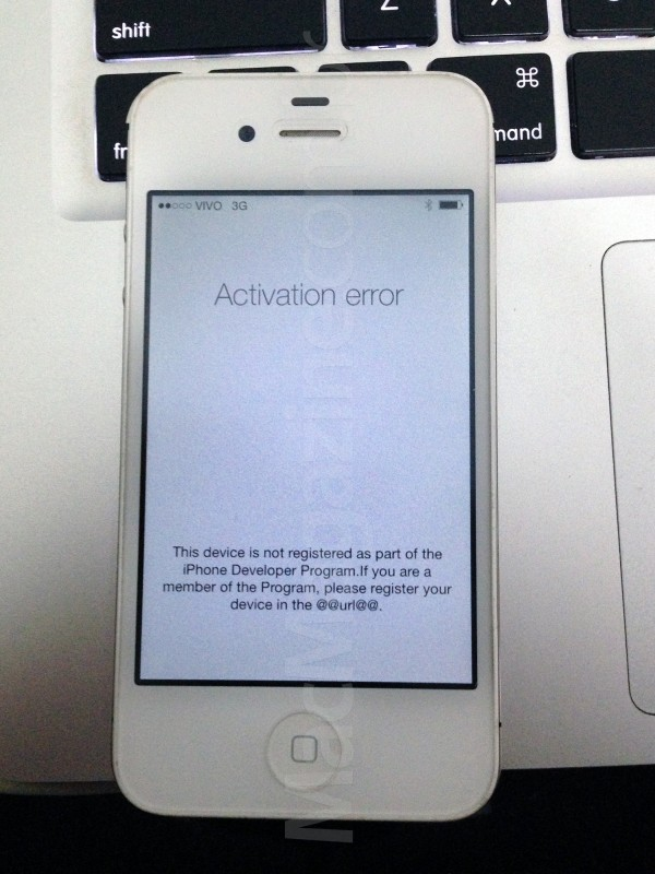 iOS 7 sem ativação