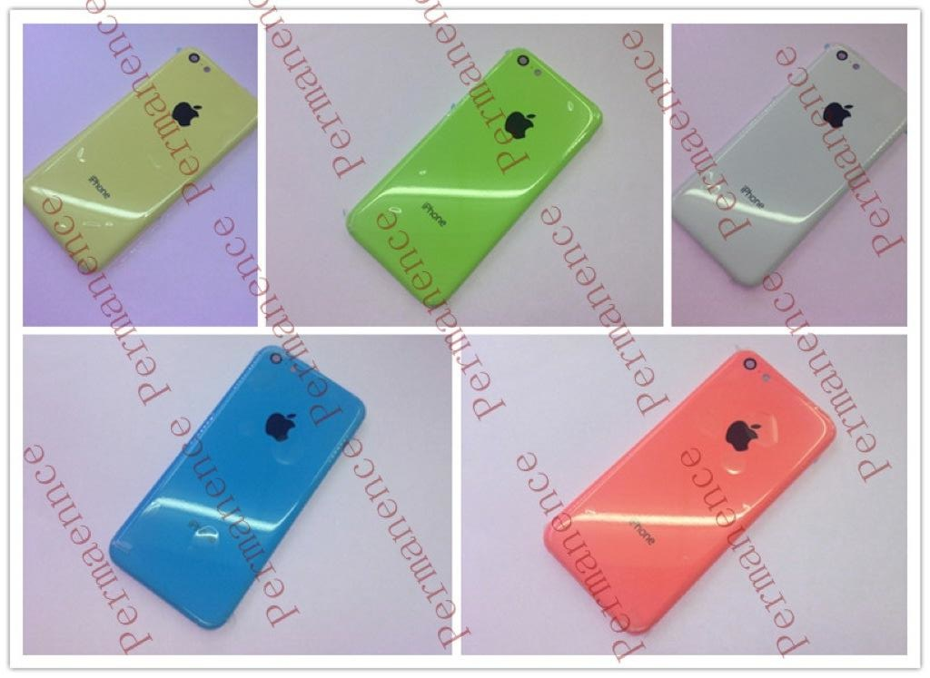 Supostas cases coloridas do iPhone de baixo custo
