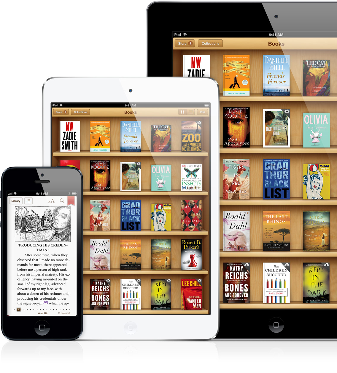 iBooks em iPad, iPad mini e iPhone 5