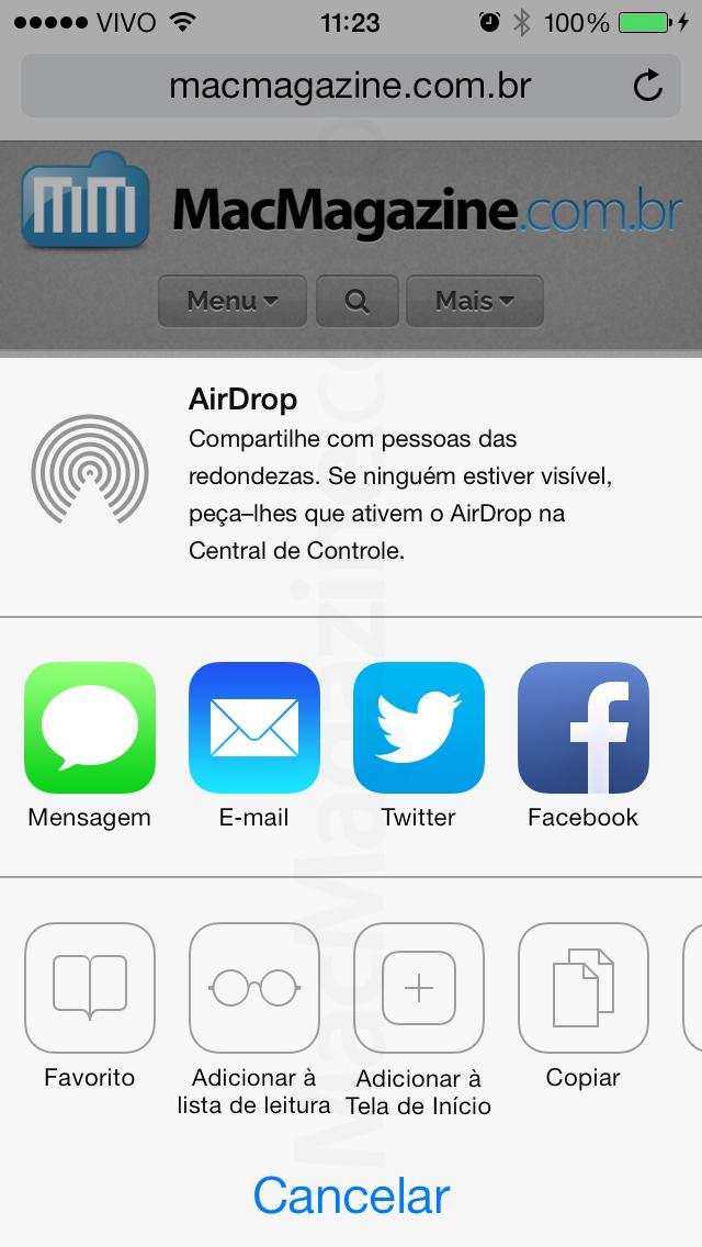 Screenshot do iOS 7 beta 3