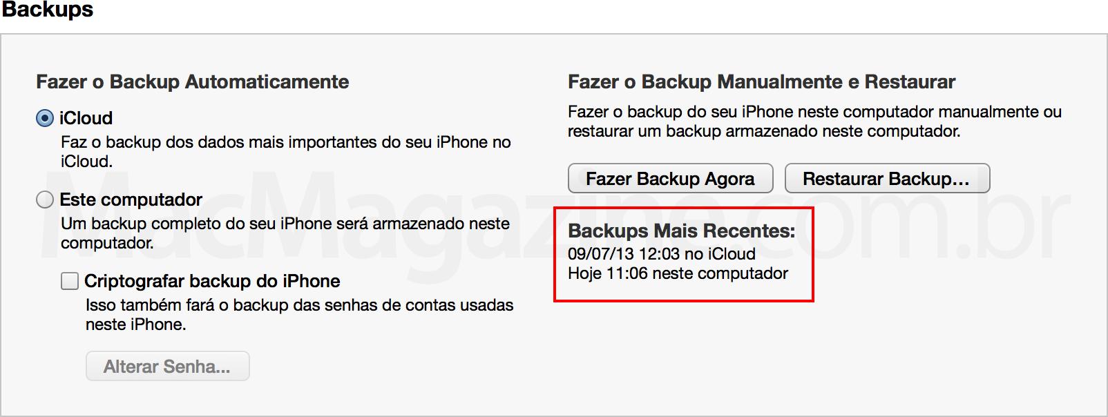 Backup de iGadgets