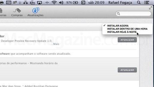 Screenshot do OS X Mavericks