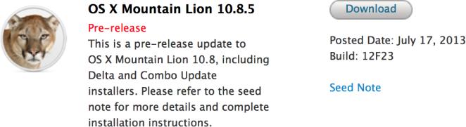 OS X 10.8.5 beta 5
