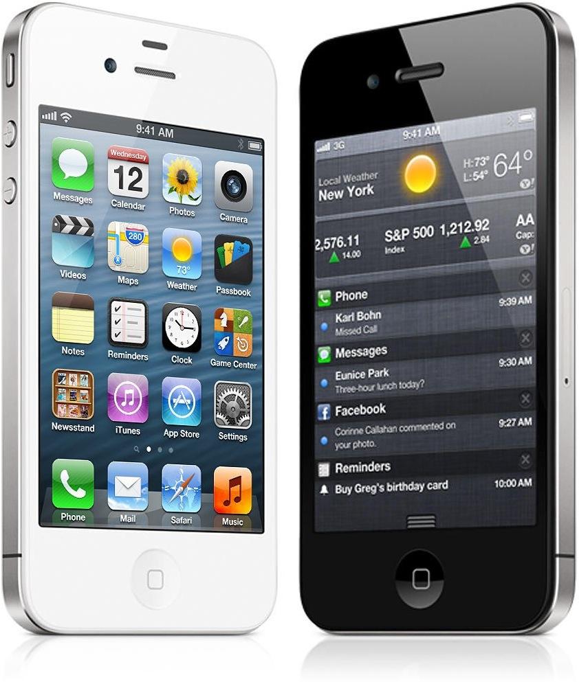 iPhone 4 branco ao lado de um preto