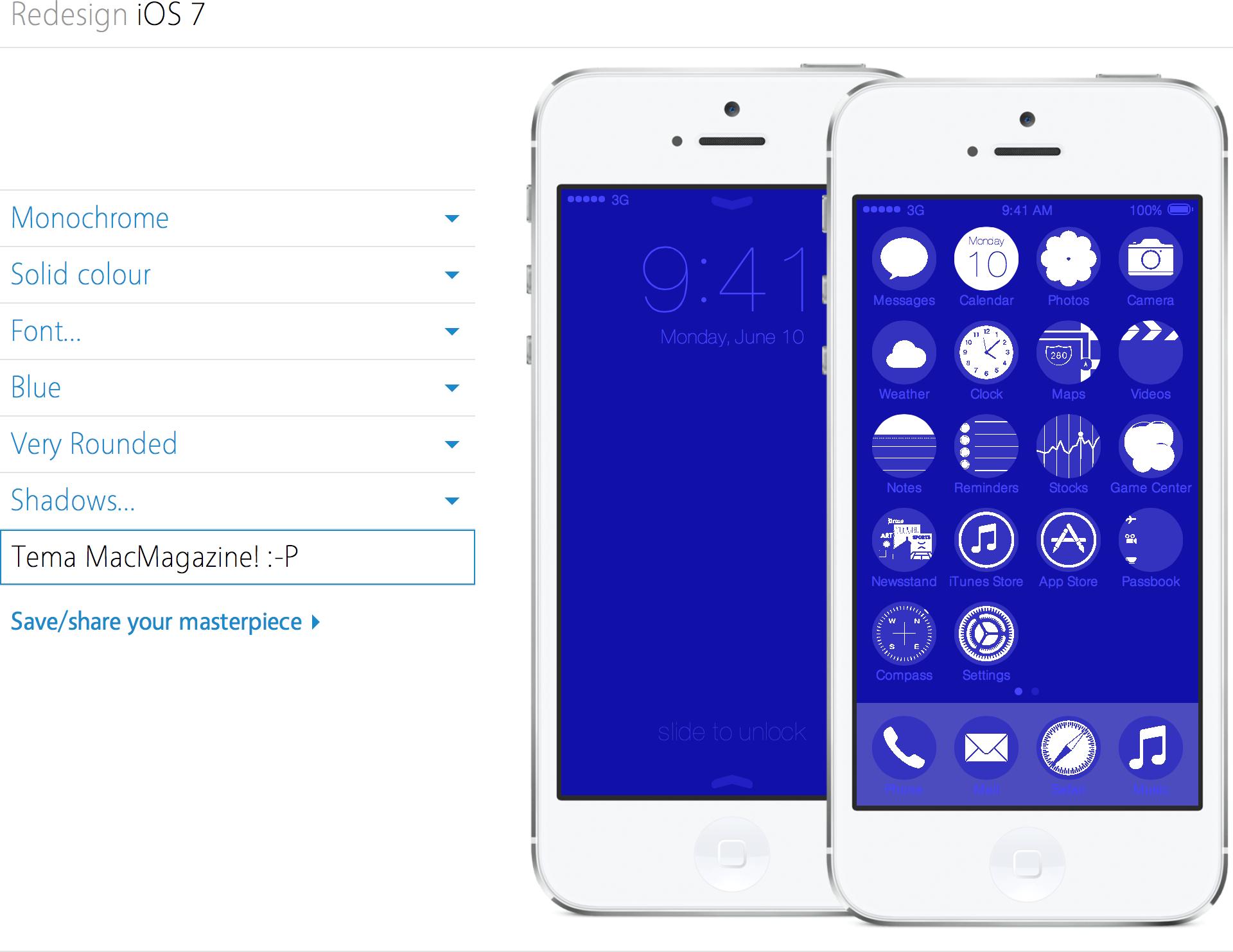 Redesign iOS 7