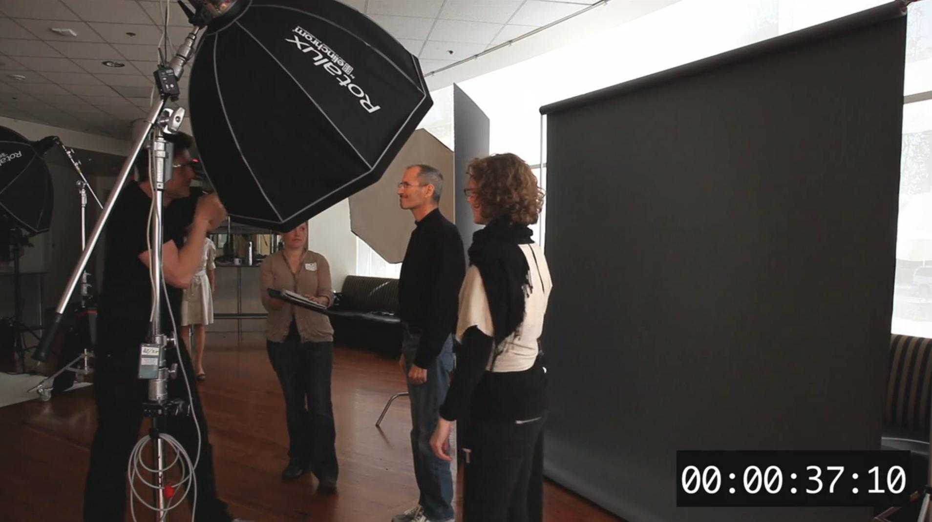 Steve Jobs - Making off da sessão de fotos para a TIM