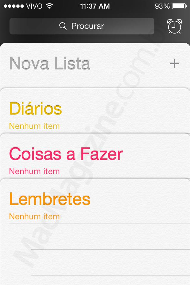 Screenshot do iOS 7 beta 4