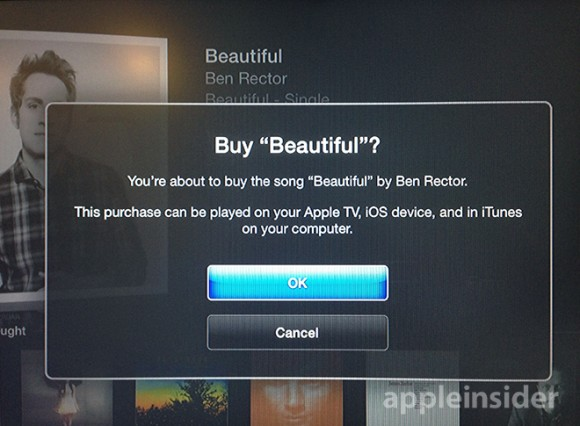 Compra de Musica - Apple TV