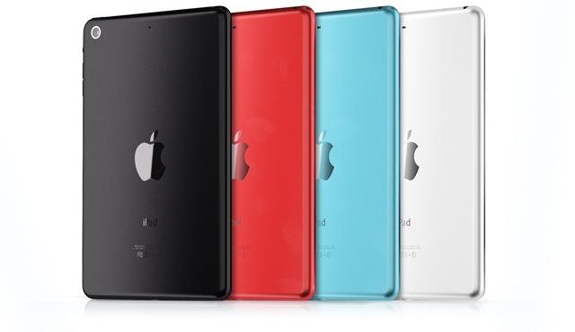 Conceito de iPads mini coloridos