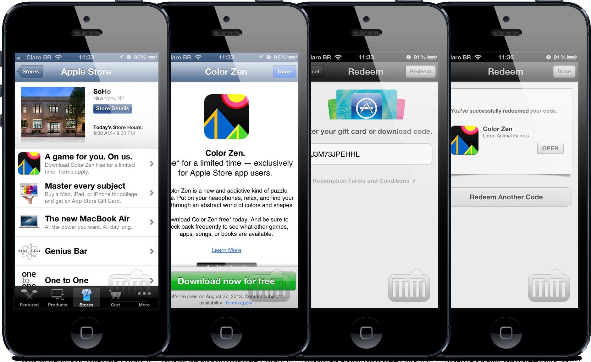Oferta no app Apple Store