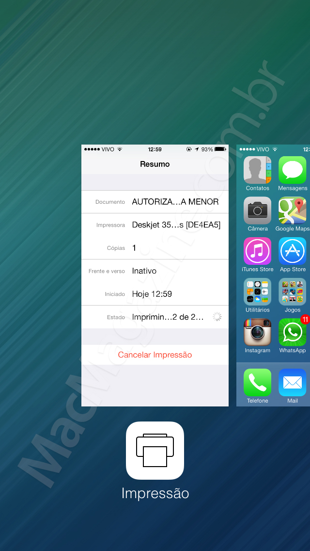 Screenshot do iOS 7 beta 4