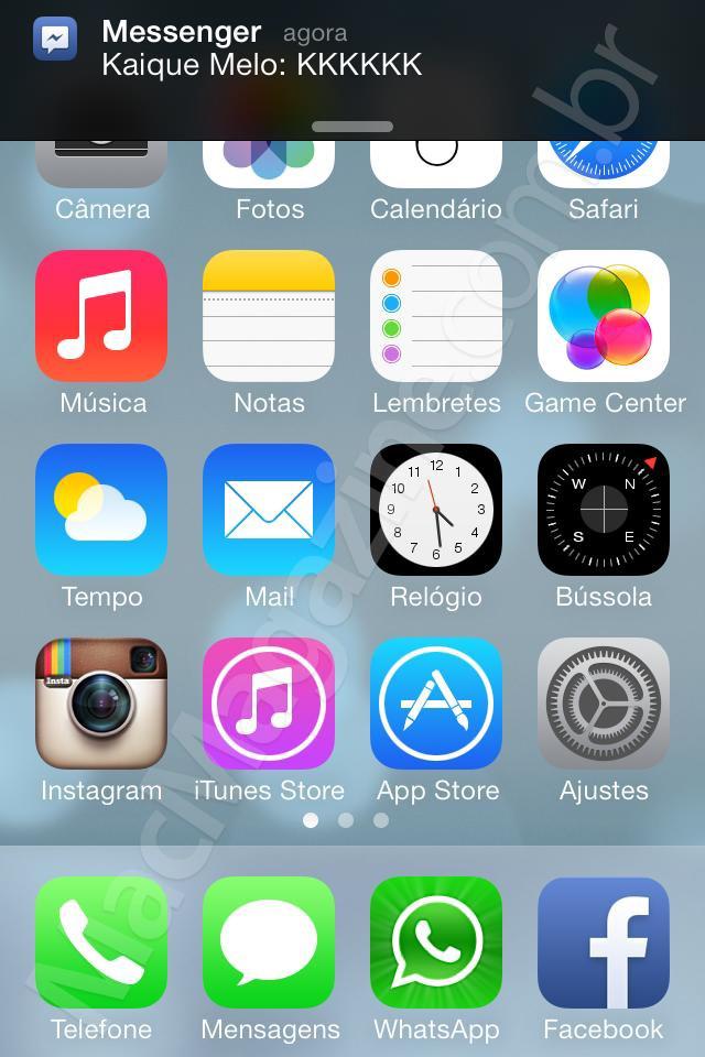 Screenshot do iOS 7 beta 5
