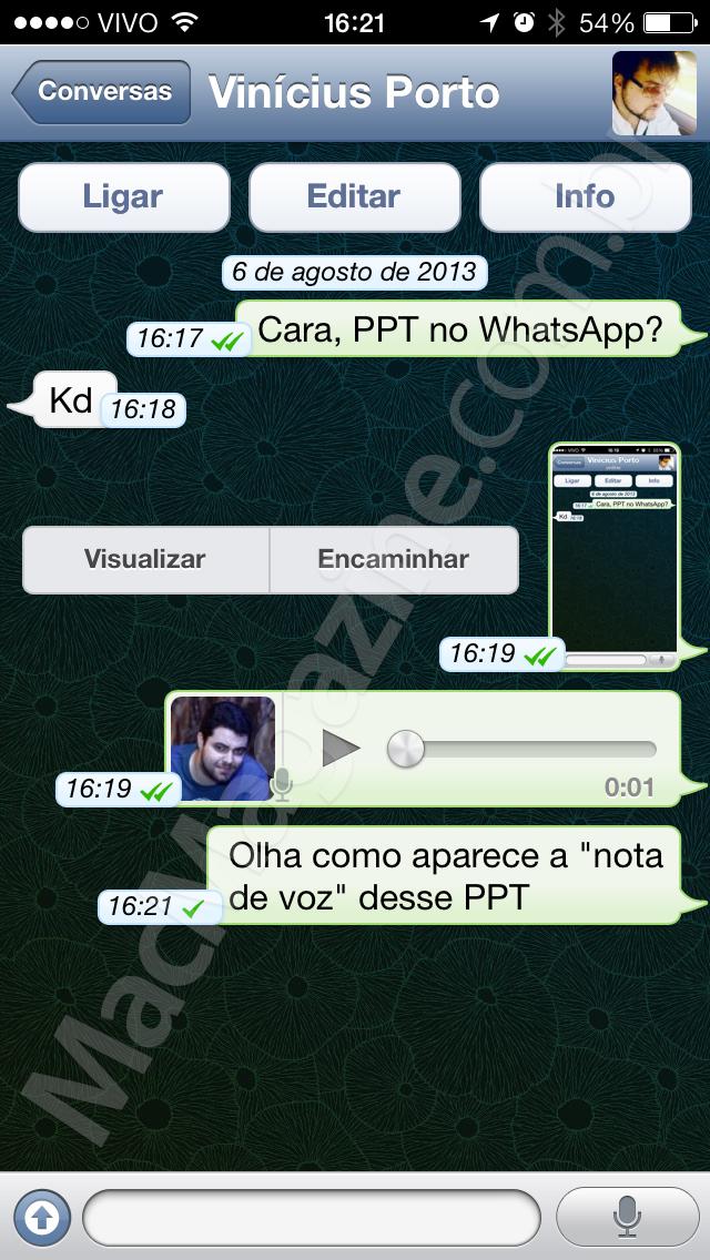 PTT no WhatsApp