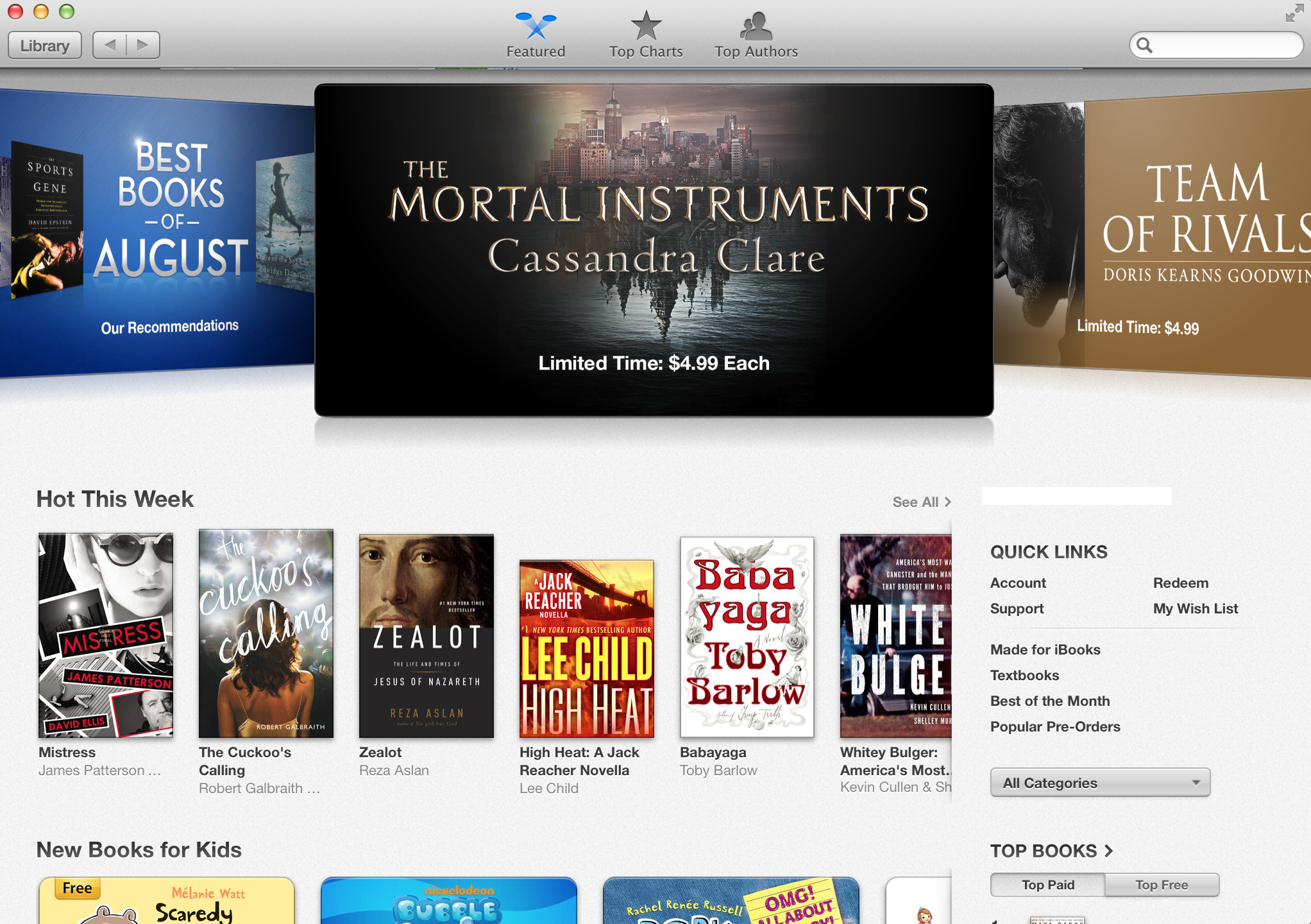 Screenshot do iBooks para Mac