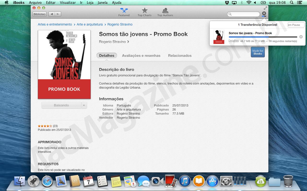 iBooks para Mac baixando livro