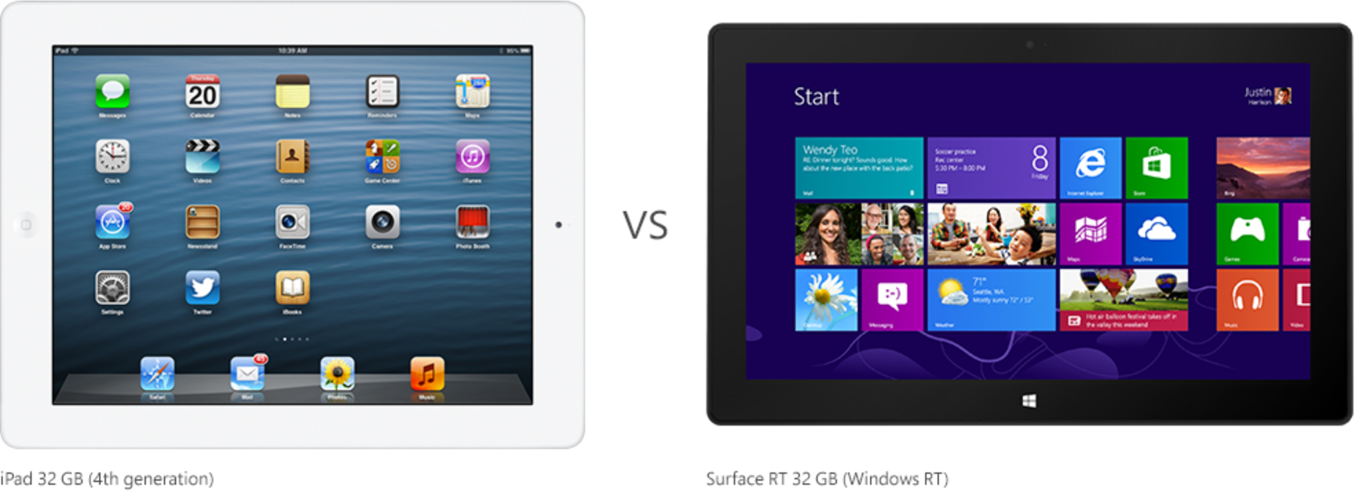 iPad vs. Surface RT