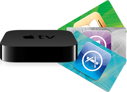 Apple TV com iTunes Gift Cards