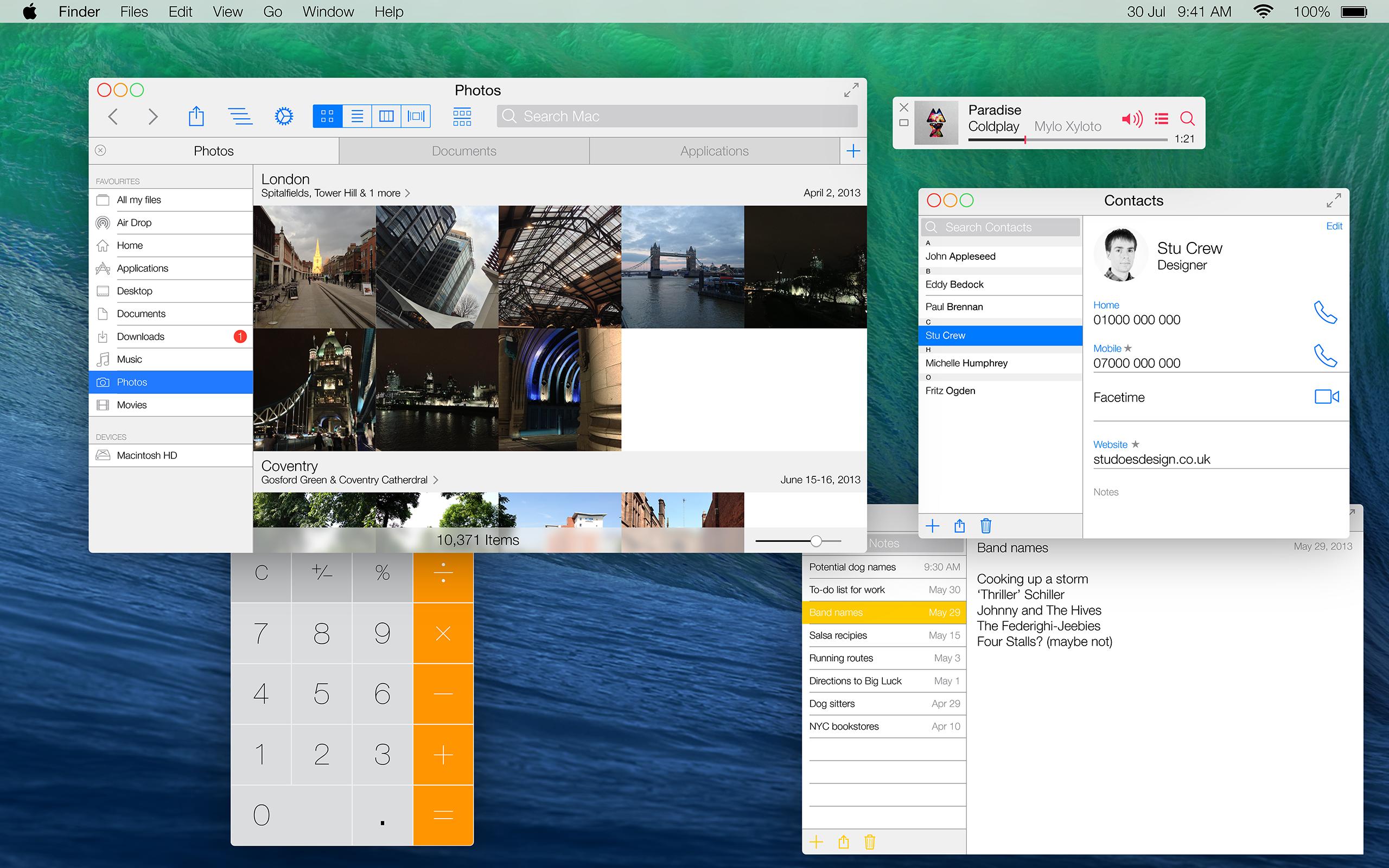 OS X com visual de iOS 7