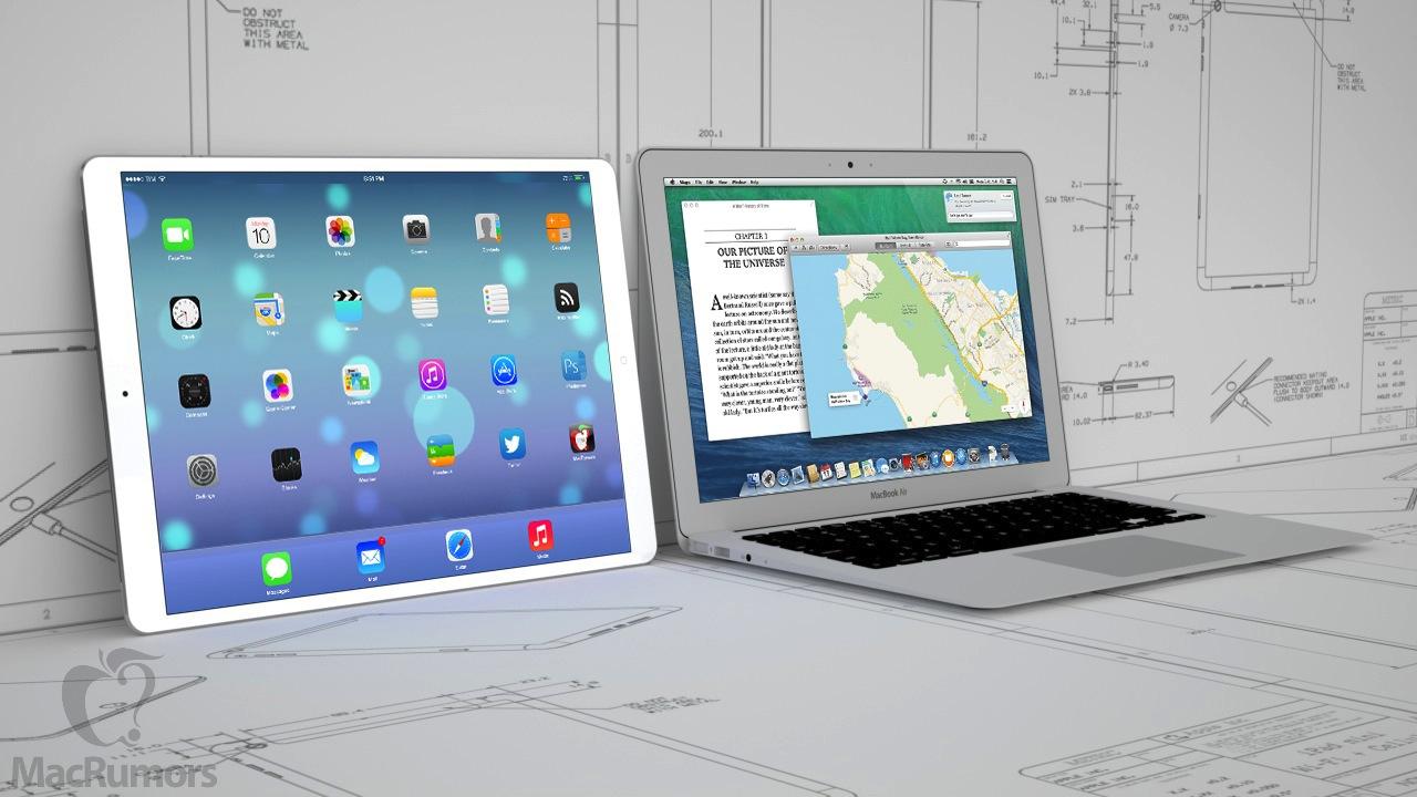 Mockup de novos iPads