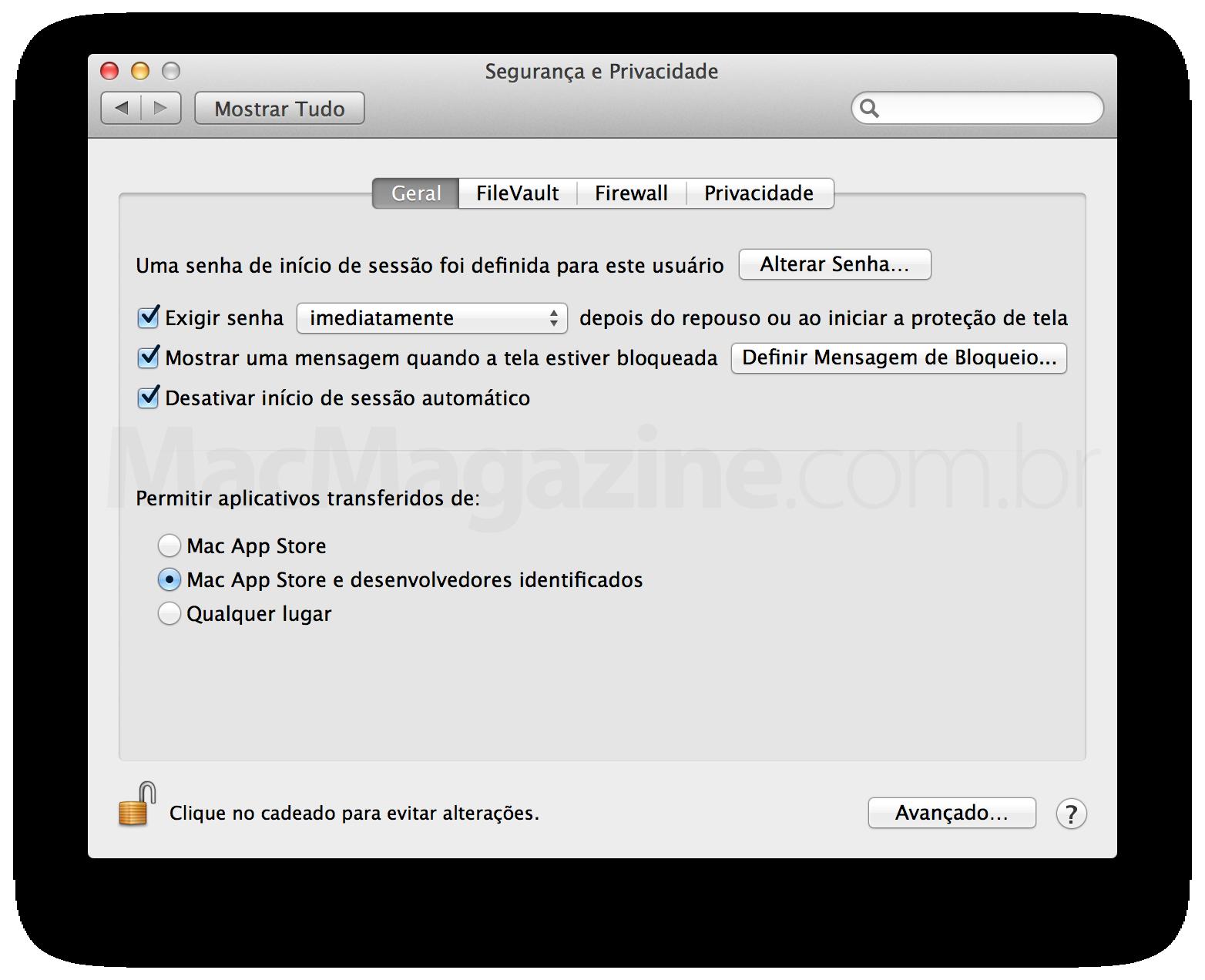 Mensagem no Mac