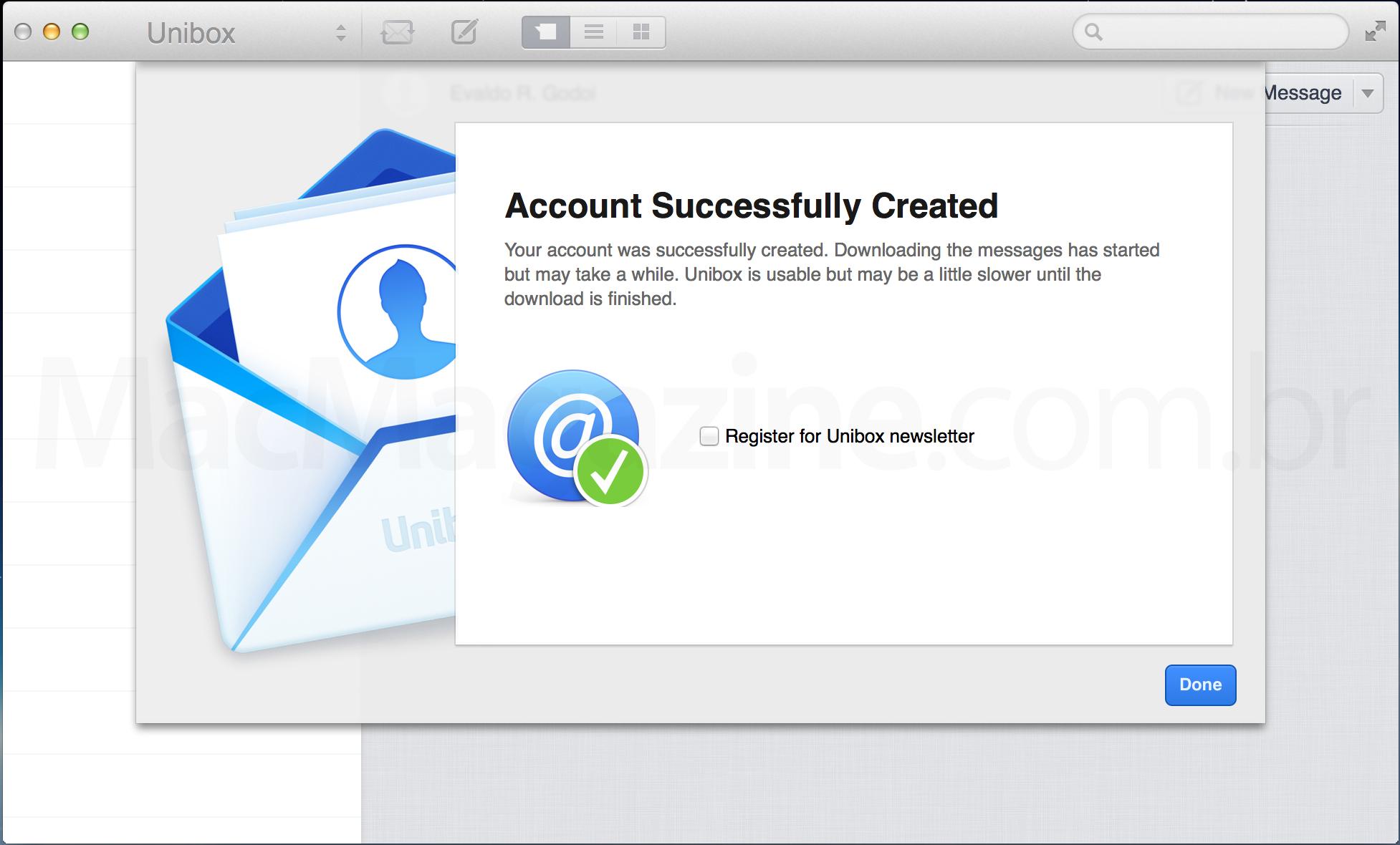 Screenshot do Unibox para Mac