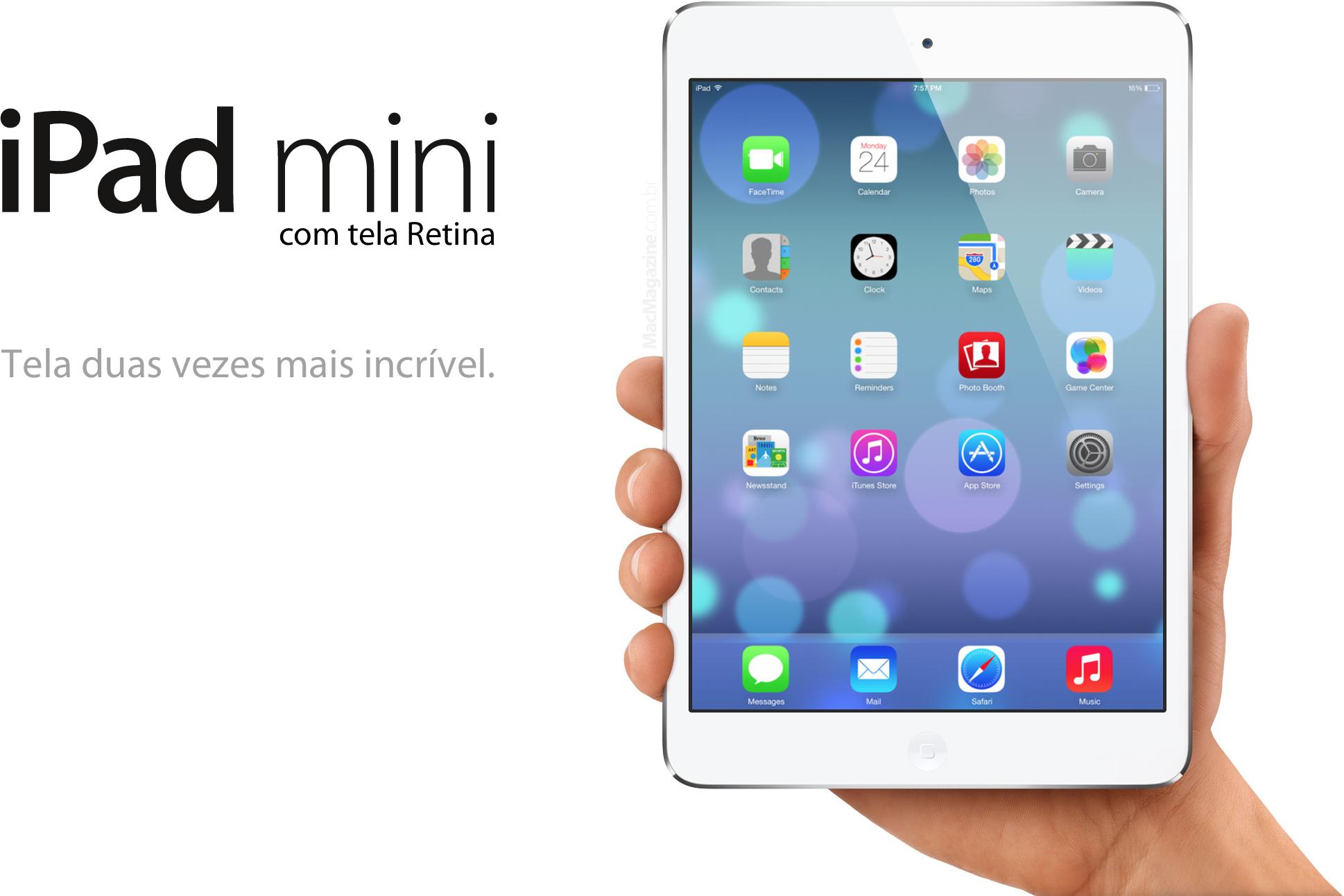 Montagem do iPad mini com tela Retina