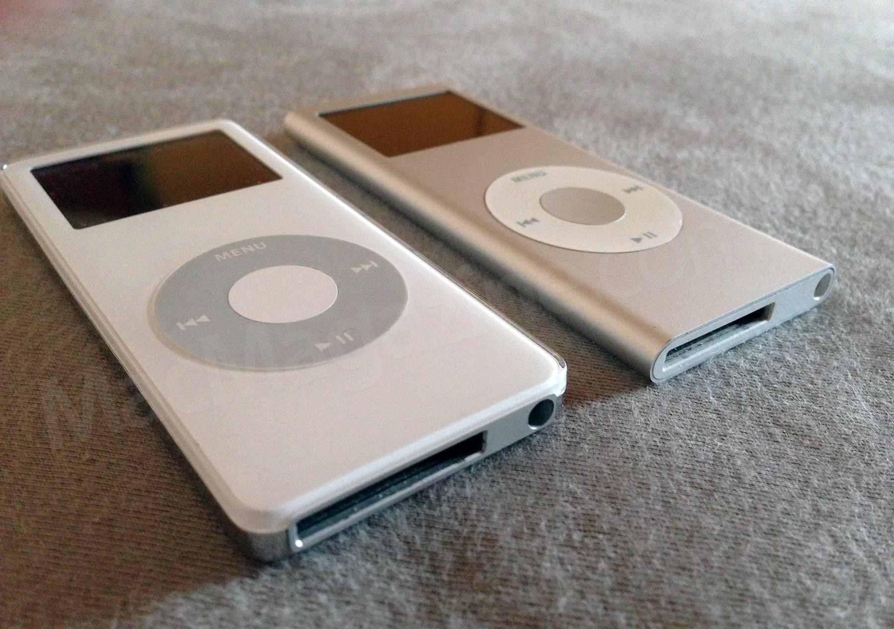 Duas primeiras gerações de iPods nano do Wilsians