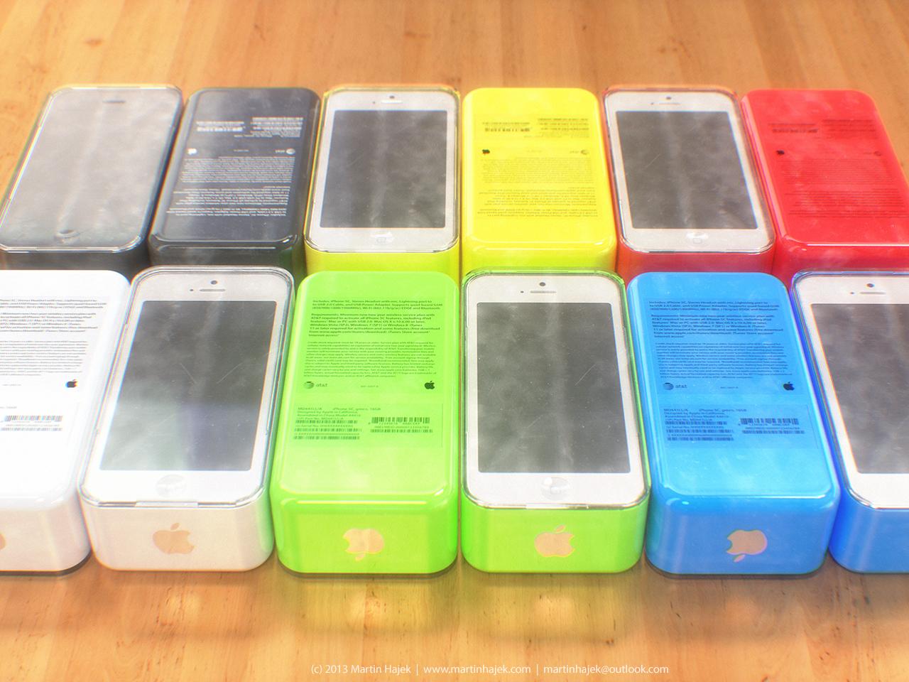 Conceito de embalagem do iPhone 5C