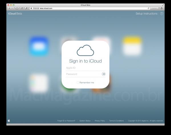 ↪ Site beta do iCloud adota o visual do iOS 7 [atualizado 2x: screenshots]
