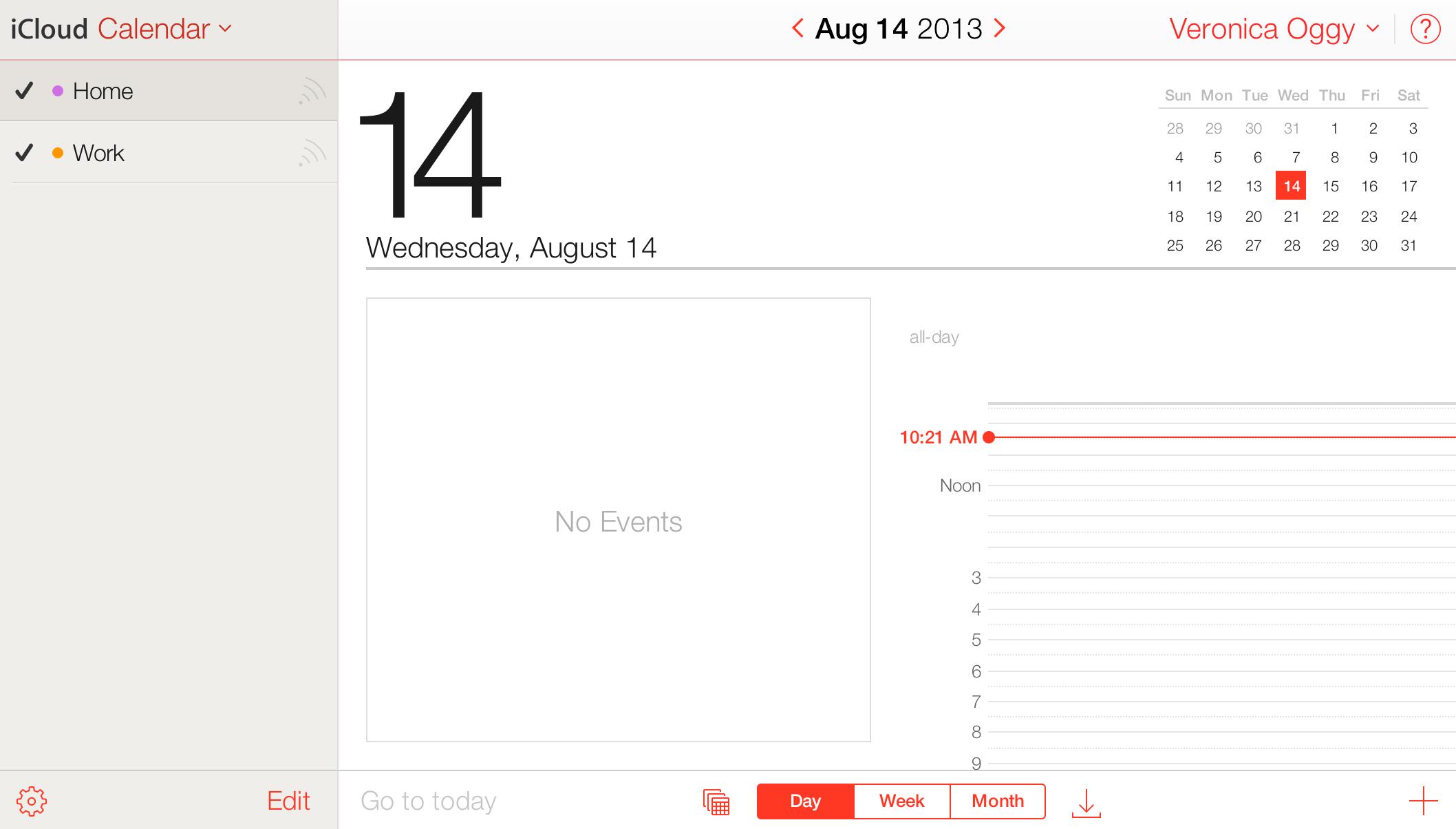Novo visual do iCloud beta
