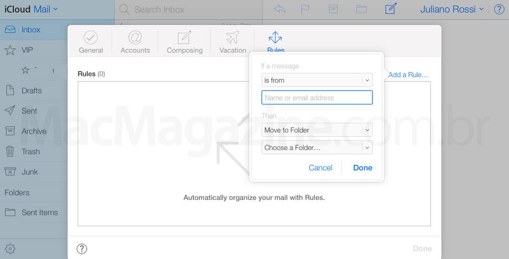 Screenshot do novo iCloud beta