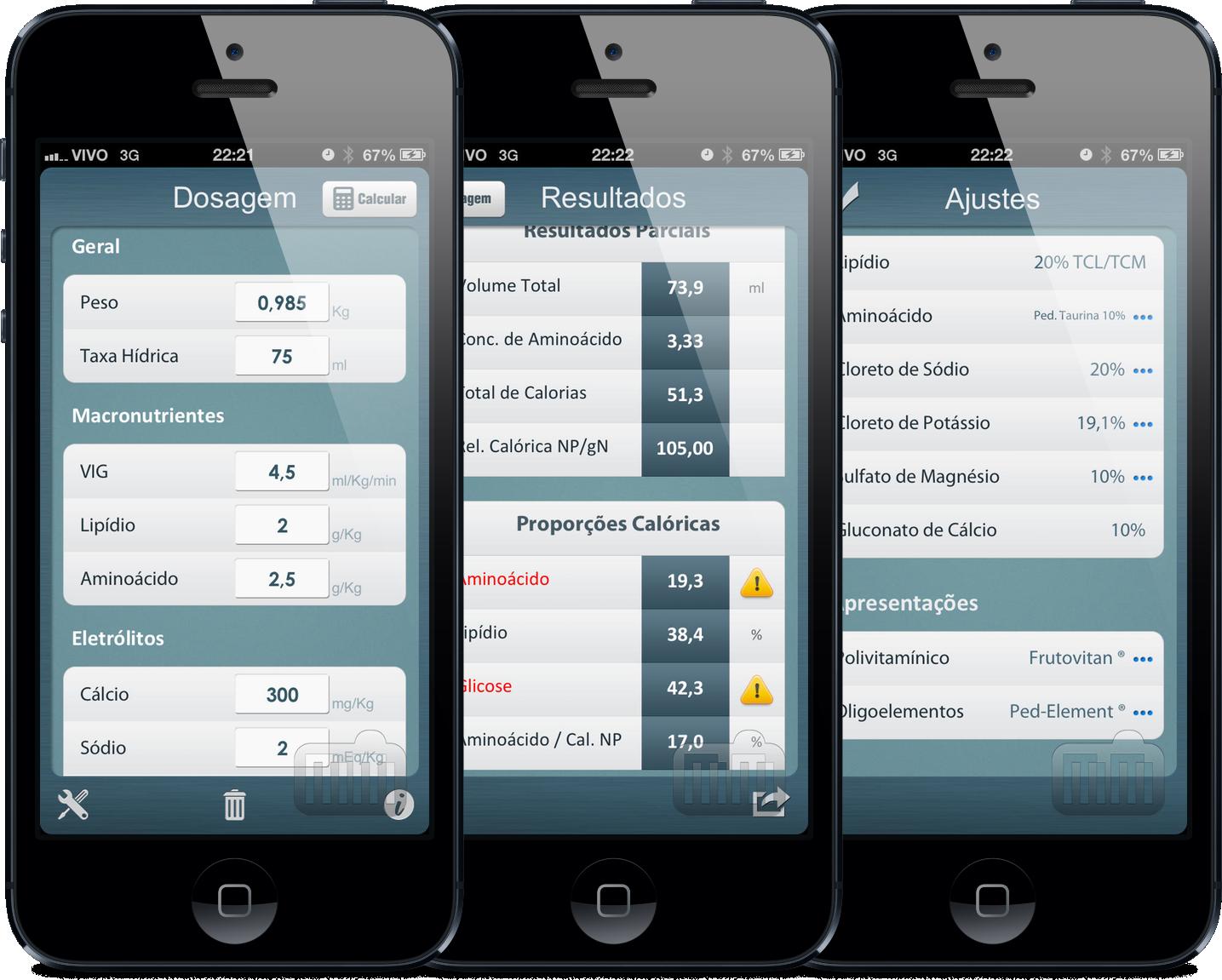 App Nutrição Parenteral para iPhones/iPods touch