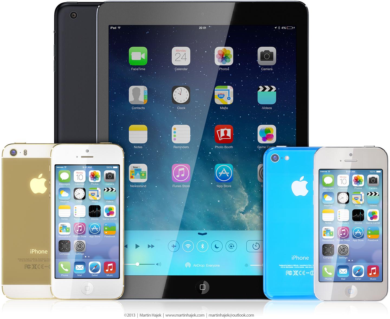 Conceito - iPad (5G) e iPhones 5S/5C