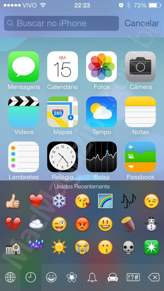 Screenshot do iOS 7 beta