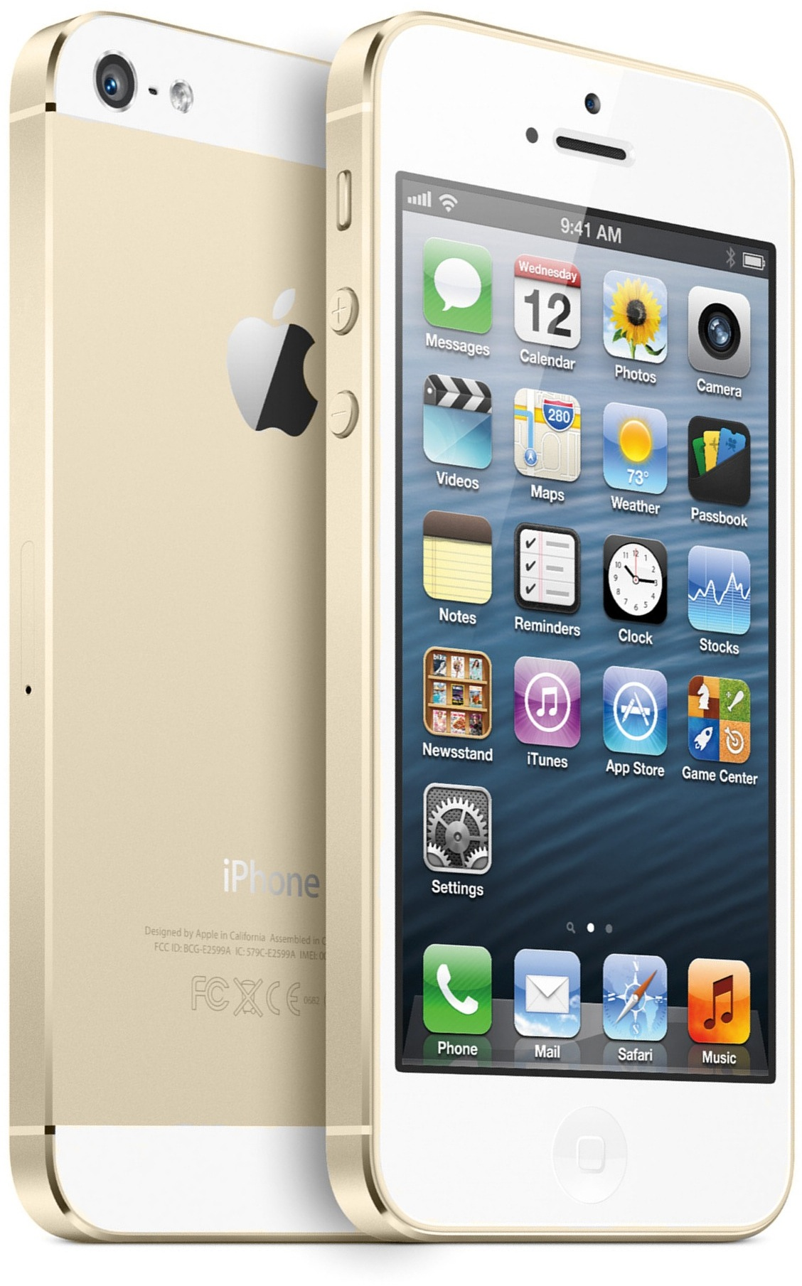Mockup do iPhone dourado
