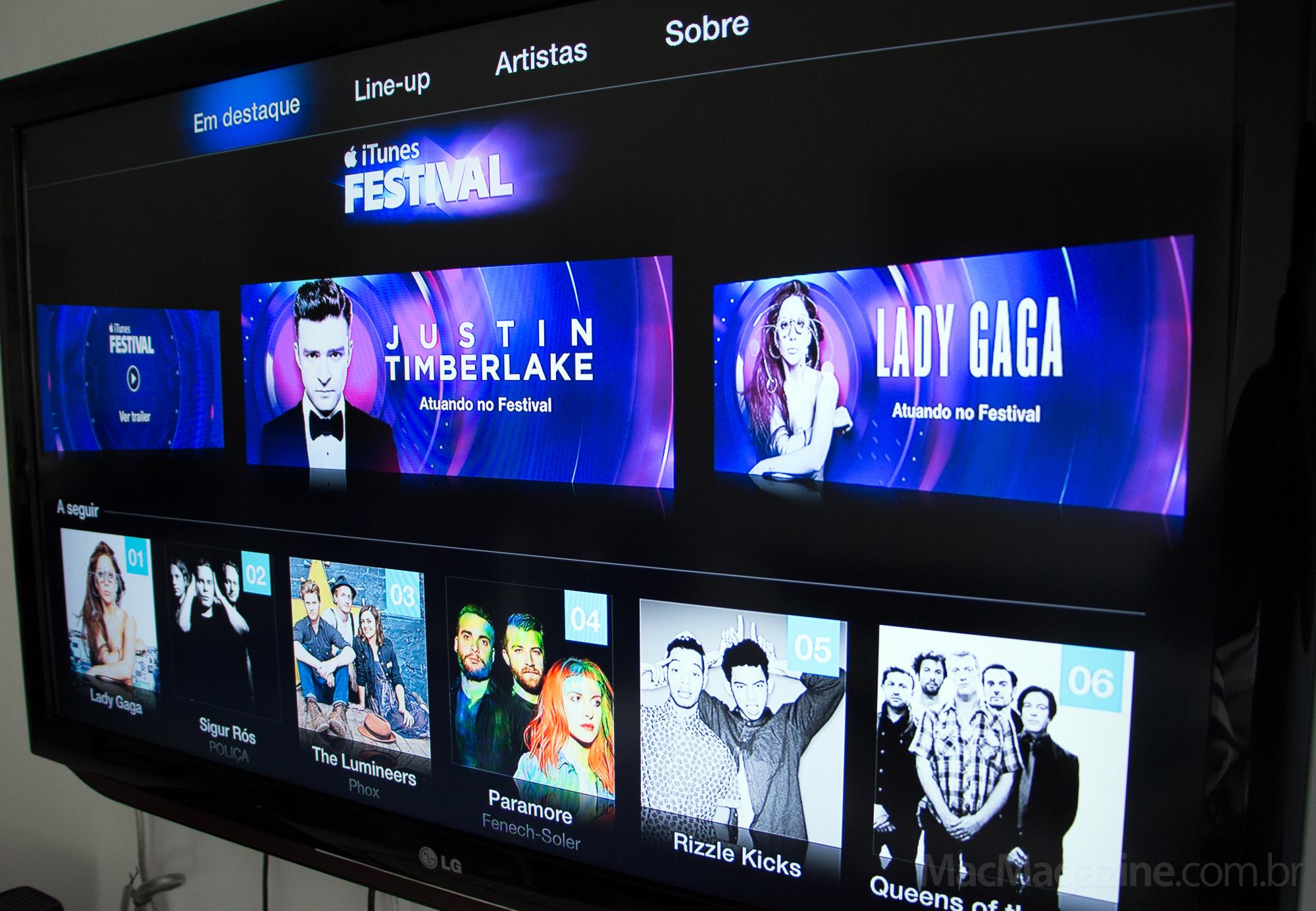 iTunes Festival 2013 na Apple TV