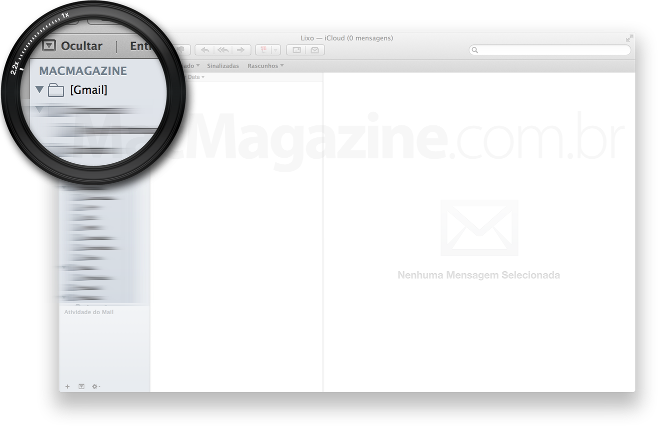 Pasta [Gmail], no Mail