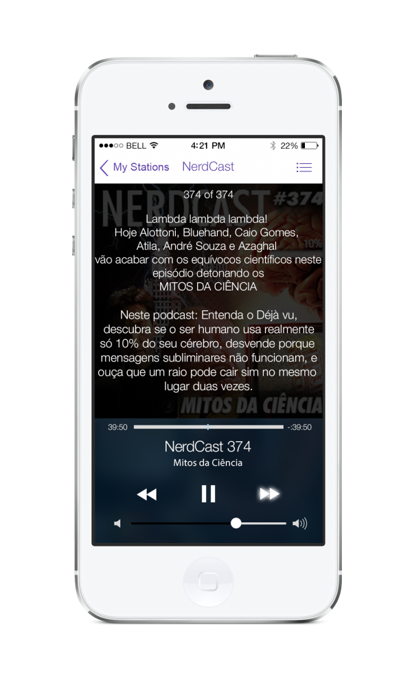 Redesign do app Podcasts