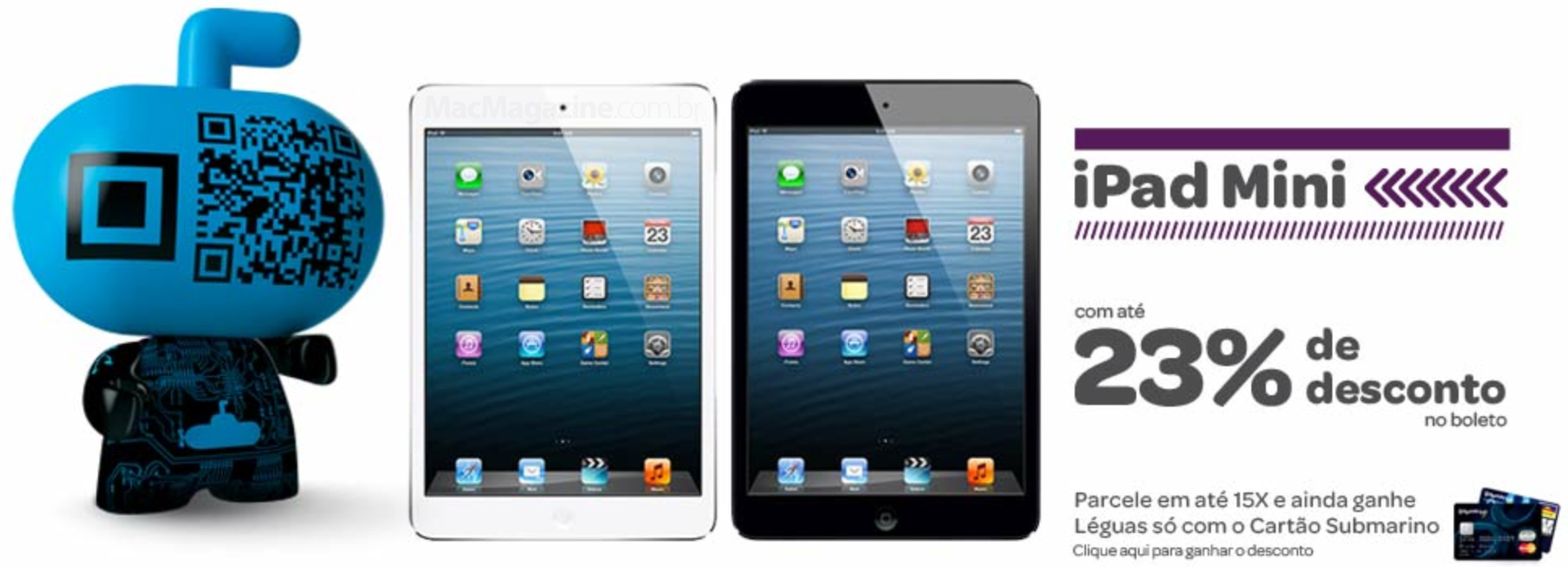 Promoção do Submarino - iPads mini