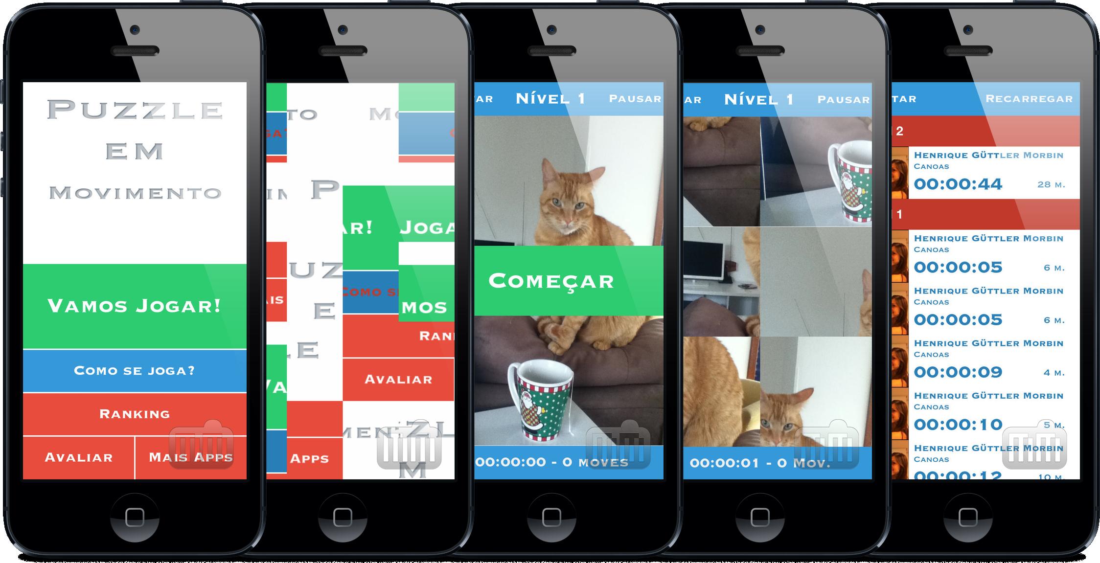 Jogo Puzzle em Movimento para iPhones/iPods touch