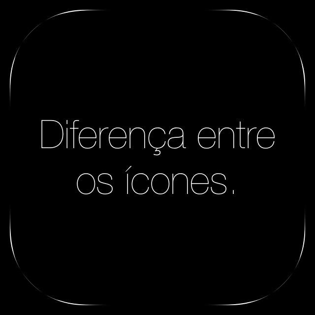 Diferença entre os ícones - iOS 6 vs. iOS 7
