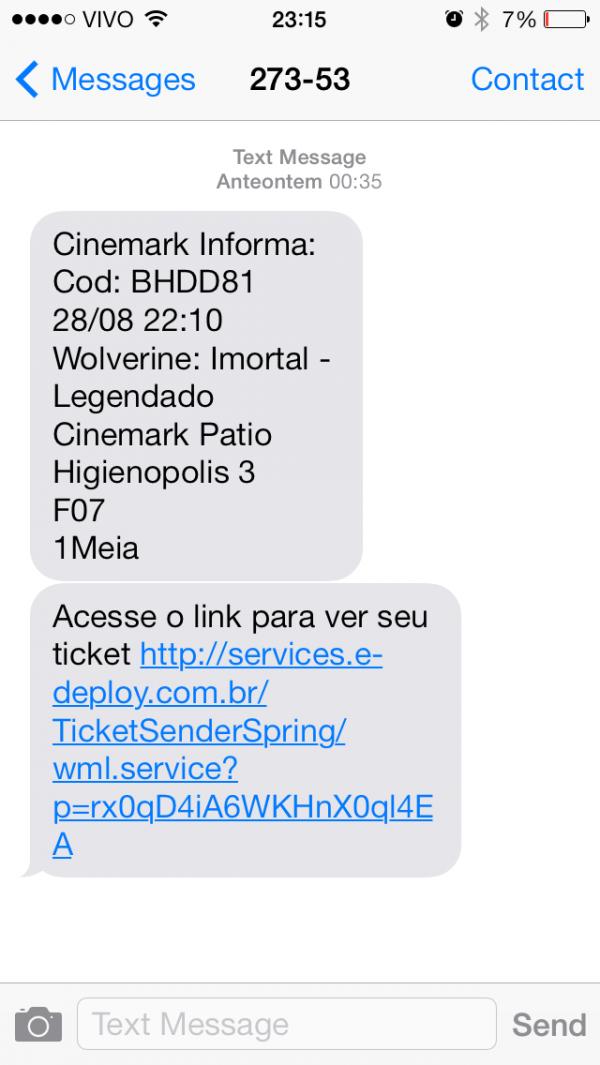 App do Ingresso.com